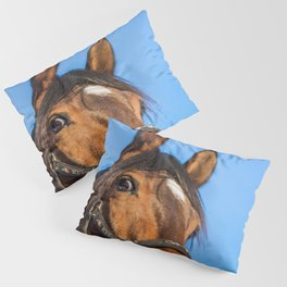 Surprised horse Pillow Sham