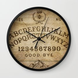 Ouija Board (Rustic Version) Wall Clock