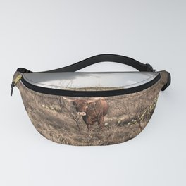 Stare Down - A Texas Bull in the Mesquite and Cactus Fanny Pack