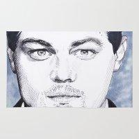 leonardo dicaprio Area & Throw Rugs featuring Leonardo DiCaprio by beecharly