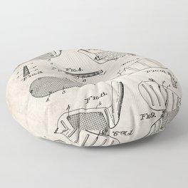 Golf Clubs Patent - Golfing Art - Antique Floor Pillow