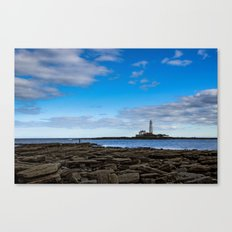 The fisherman and the lighthouse. Canvas Print