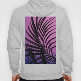 Simple palm leaves paradise with gradient Hoody