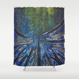 Excuse Me While I Kiss the Sky Shower Curtain