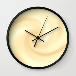 Cream Swirl Background Wall Clock