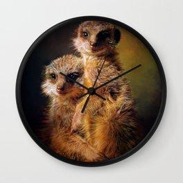 Meerkat Love Wall Clock