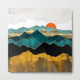 Turquoise Vista Metal Print