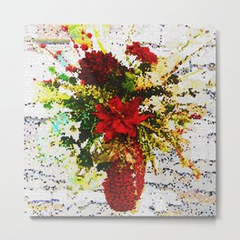 POINSETTIAS FLORAL ARRANGEMENT Metal Print