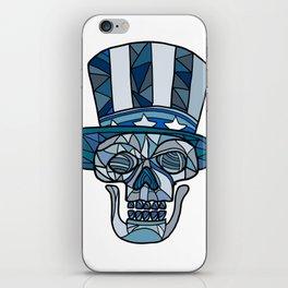Uncle Sam Skull Mosaic iPhone Skin