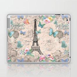 Paris - my love - France Nostalgy- pink French Vintage Laptop & iPad Skin