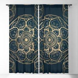 Mandala Night Blue Blackout Curtain