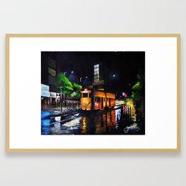 Raining in the City of Joy Framed Art Print