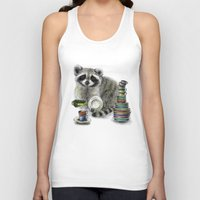 raccoon Tank Tops featuring Raccoon by Anna Shell