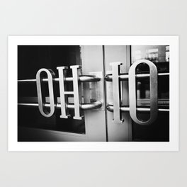 O-H-I-O  Art Print