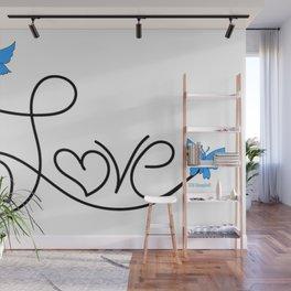 """Love Flies"" Wall Mural"