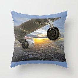 Airbus A-340 Throw Pillow