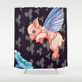 The Impossibility of Spring Shower Curtain