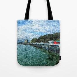 Llandudno Pier in Summer Tote Bag