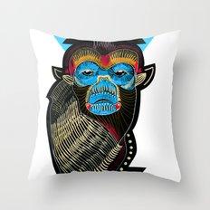 Color me Monkey Throw Pillow