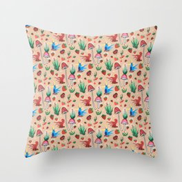 strawberry thieves Throw Pillow