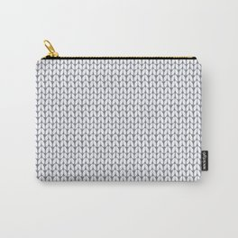 Knitted pattern. Carry-All Pouch