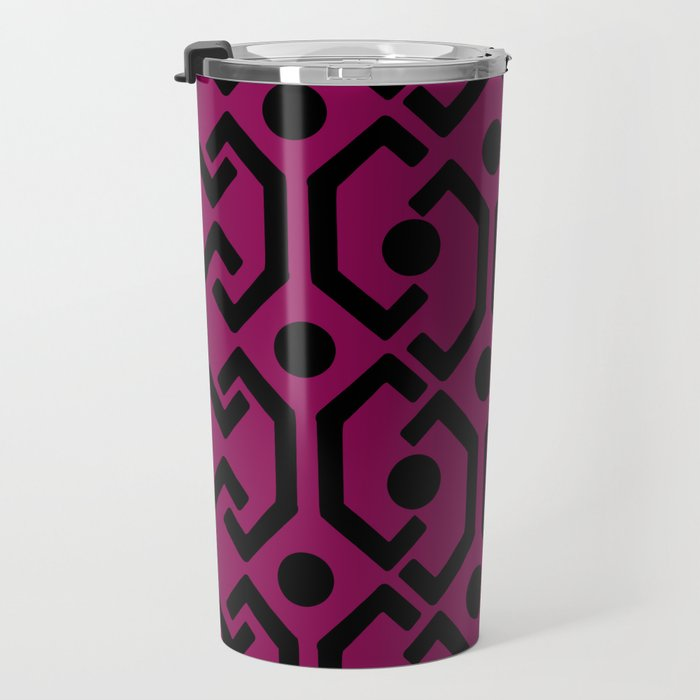 Ethnic Pattern (Purple) Travel Mug