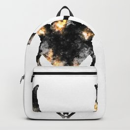Stag of smoke and flame Backpack