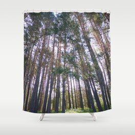 look up Shower Curtain