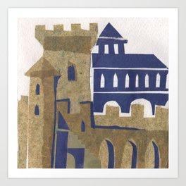 Medieval town Art Print