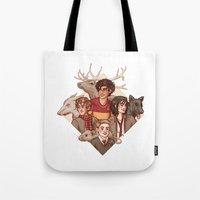 marauders Tote Bags featuring The Marauders by Susanne