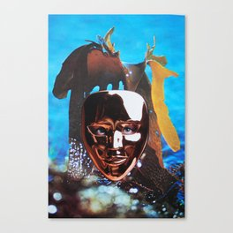 Suzie then removed her mask and caused a mighty stir Canvas Print