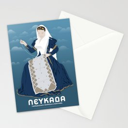 Lefkada, Traditional Costume & Embroidery (GR) Stationery Cards