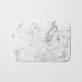 White Marble Badematte