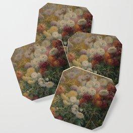 Chrysanthemums in the Garden at Petit-Gennevilliers - Claude Monet Coaster