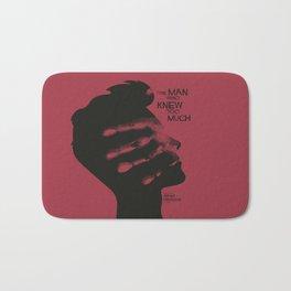 The Man who Knew Too Much, Alfred Hitchcock, minimal movie poster, alternative film playbill, cinema Bath Mat