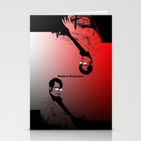 stephen king Stationery Cards featuring Stephen King Rules by Hazel Bellhop