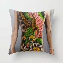 dragon bodysuit tattoo Throw Pillow