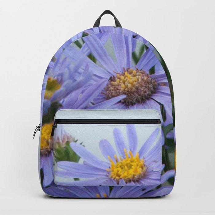 Bright Purple Daisy Flowers #1 #decor #art #society6 Backpack