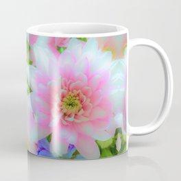 Bouquet in Blue and Pink 1 - enhanced Chrysanthemum Coffee Mug