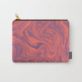 Living Coral - color of year 2019, Ultra Violet Marble Abstract Gradient Pattern Carry-All Pouch