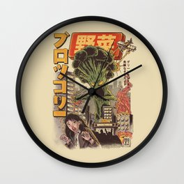 Broccozilla Wall Clock