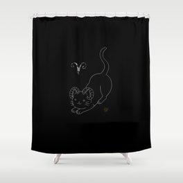Aries Cat Shower Curtain