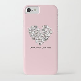 Just Love. (black text) iPhone Case