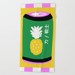 Pineapple Can Beach Towel