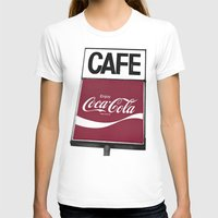 coca cola T-shirts featuring Coca-Cola Cafe by Vorona Photography