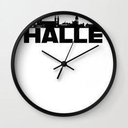 Halle Germany Skyline Gift Idea Wall Clock