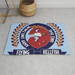 Flying Hellfish ARMY Rug