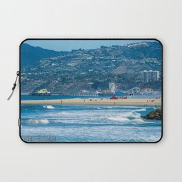 Rare view of Santa Monica, Pier & Pacific Palisades from Venice Pier Laptop Sleeve