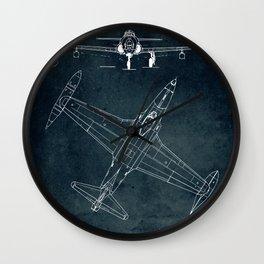 LOCKHEED P-80 - First flight 1944 Wall Clock