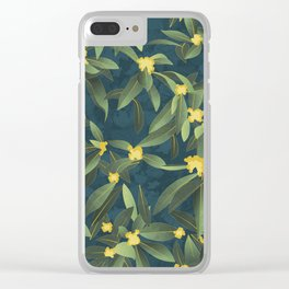 Loquat medlar tree in Autumn I Clear iPhone Case